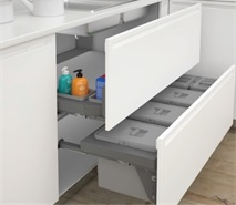to suit 1200mm cabinet suwb1257 57 litre under sink waste bin